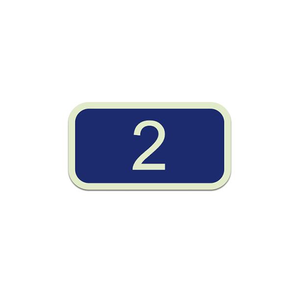 Plastic seat number blue