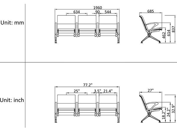 leacom seating 517nxb