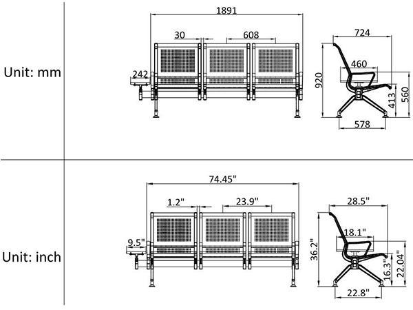 leacom seating 528c