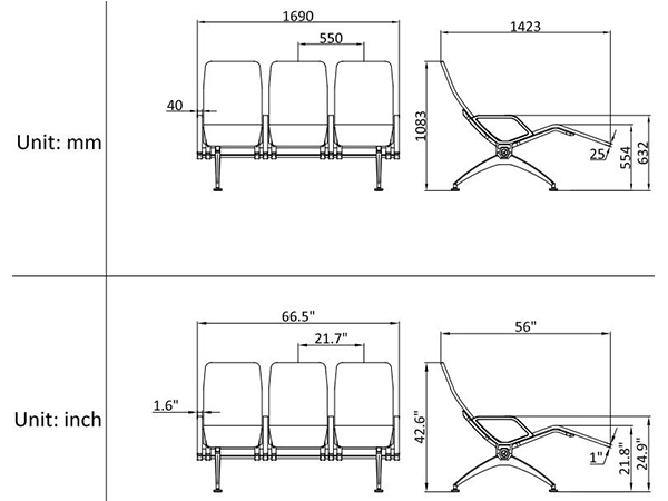 leacom seating 533