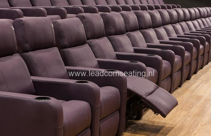 leadcom cinema seating installation Big Bio Cinema 1