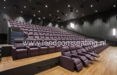 leadcom cinema seating installation Big Bio Cinema