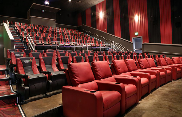 leadcom cinema seating installation Cinergy Cinema 1
