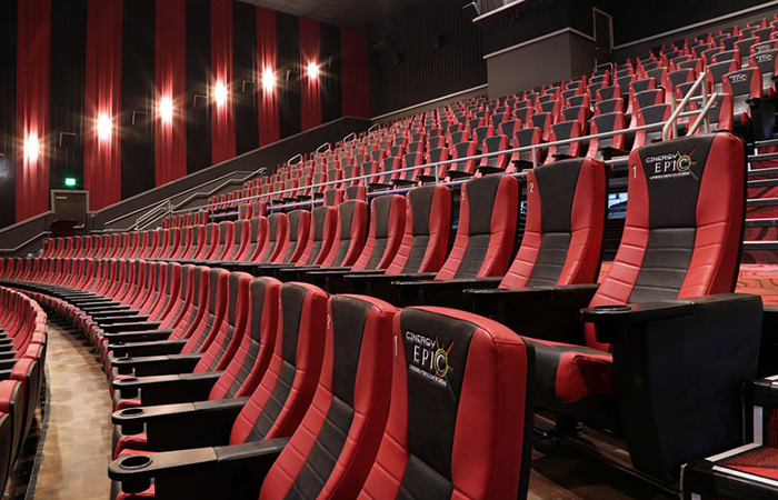 leadcom cinema seating installation Cinergy Cinema