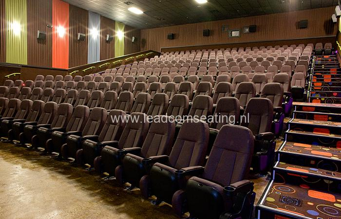 leadcom cinema seating installation Cinergy cinema 3