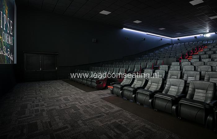 leadcom cinema seating installation Eclipse cinema 1