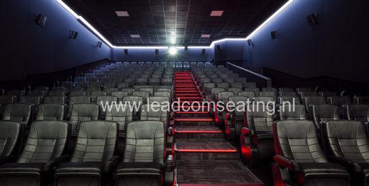 leadcom cinema seating installation Eclipse cinema