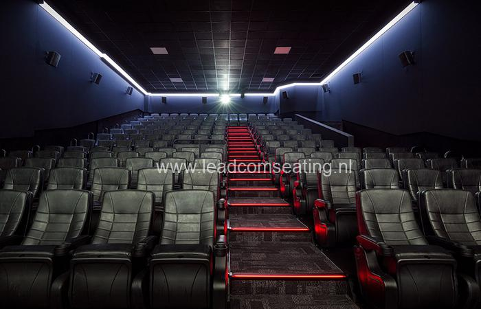 leadcom cinema seating installation Eclipse cinema