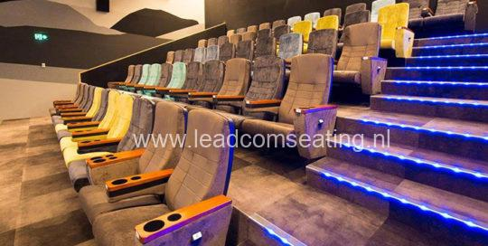 leadcom cinema seating installation Flying South Theatre