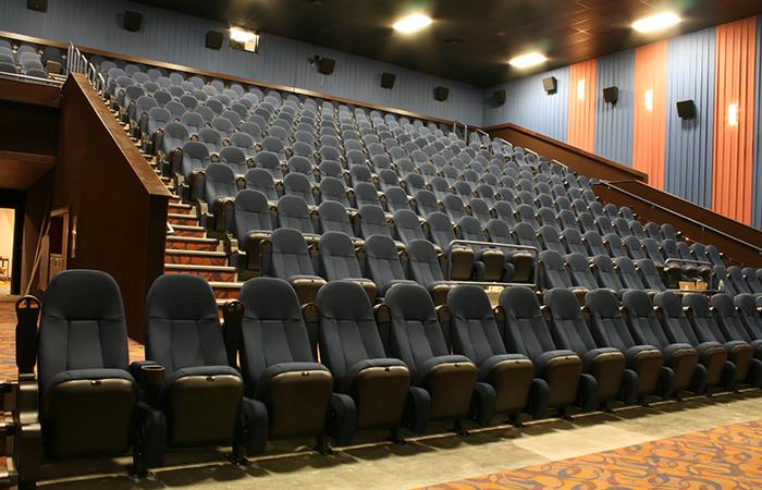 leadcom cinema seating installation GATE WAY CINEMA