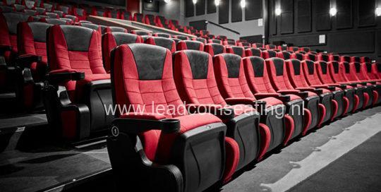 leadcom cinema seating installation Kom-bi project Danmark
