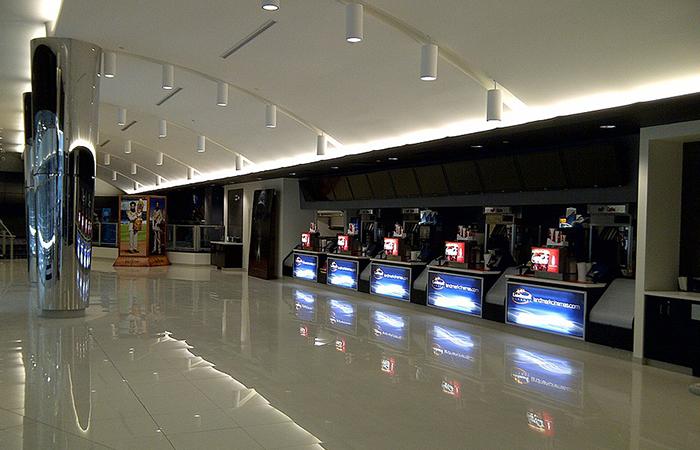 leadcom cinema seating installation LANDMARK CINEMA 1