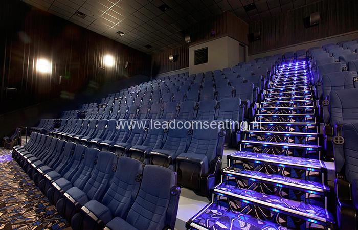 leadcom cinema seating installation LANDMARK CINEMA