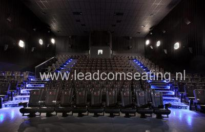 leadcom cinema seating installation Landmark cinema