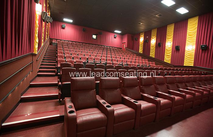 leadcom cinema seating installation Lewisburg Cinema