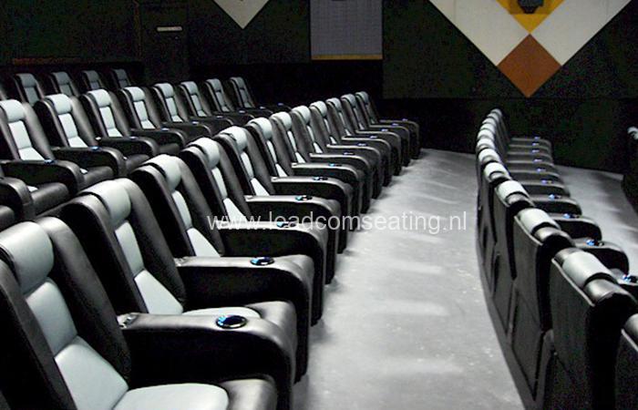 leadcom cinema seating installation Northridge Cinema 10