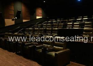 leadcom cinema seating installation Palladio LUXE Cinema