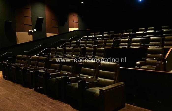 leadcom cinema seating installation Palladio LUXE Cinema