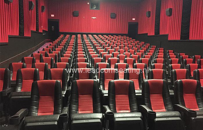 leadcom cinema seating installation Pearland Premiere Cinema 2