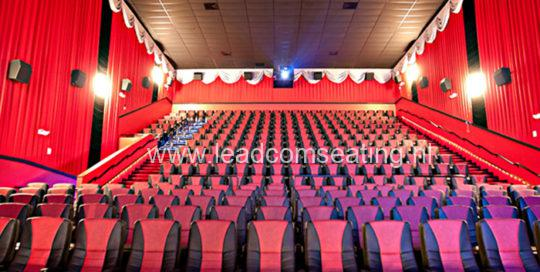 leadcom cinema seating installation Pearland Premiere Cinema