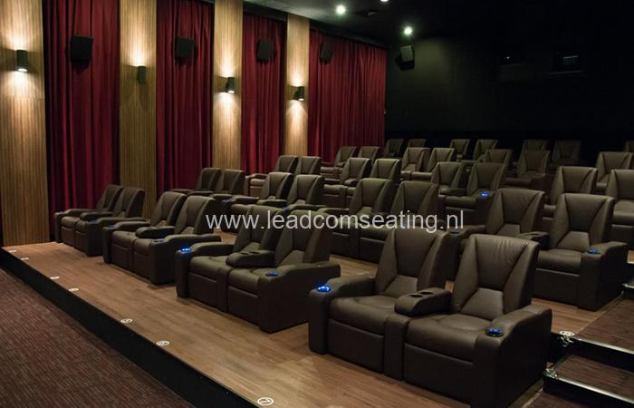leadcom cinema seating installation Platinum Cineplex Times City 1