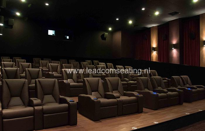 leadcom cinema seating installation Platinum Cineplex Times City