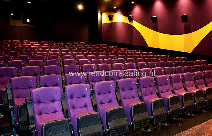 leadcom cinema seating installation Platinum Cineplex
