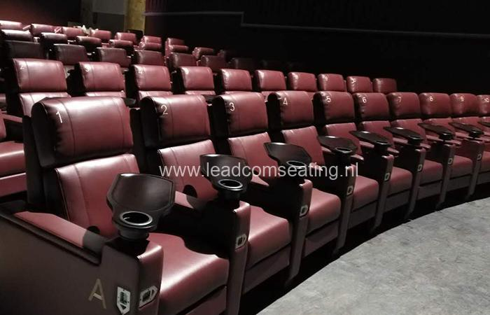 leadcom cinema seating installation Premiere Cinema