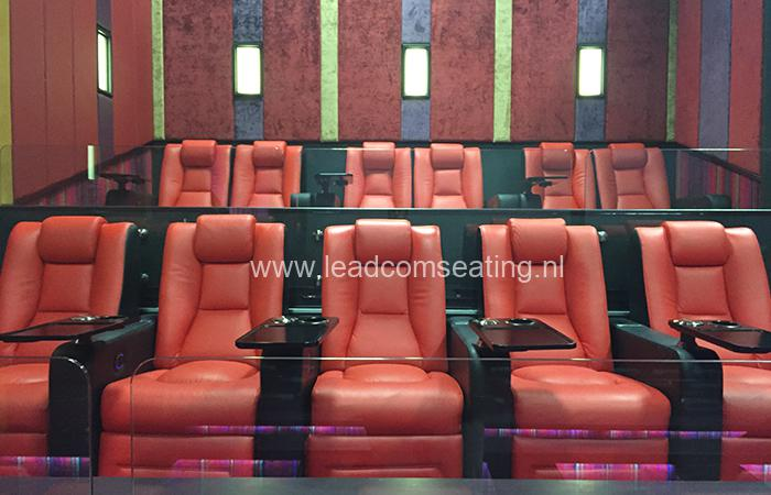 leadcom cinema seating installation Ritz multiplex cinema 1