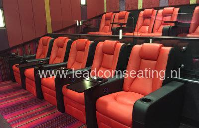 leadcom cinema seating installation Ritz multiplex cinema