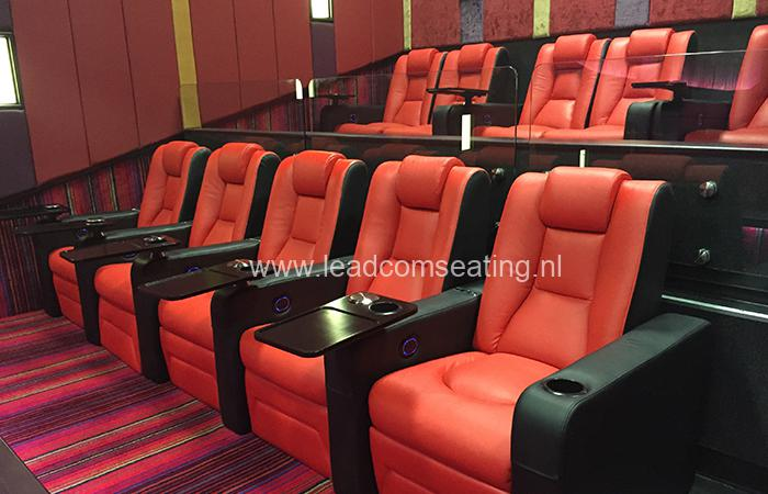 leadcom cinema seating installation Ritz multiplex cinema