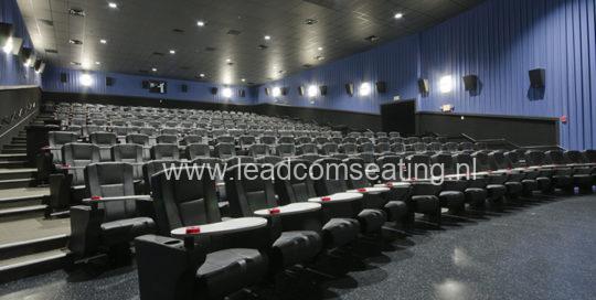 leadcom cinema seating installation STUDIO MOVIE GRILL