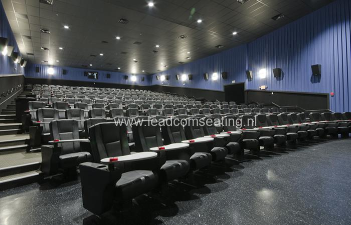 leadcom cinema seating installation STUDIO MOVIE GRILL