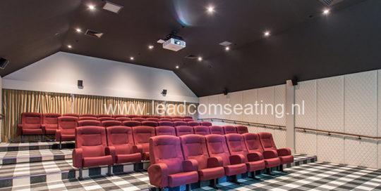 leadcom cinema seating installation The Russley Village Cinema