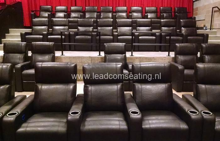 leadcom cinema seating installation Yelm Cinema
