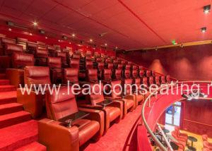 leadcom cinema seating installation Youcinema Switzerland