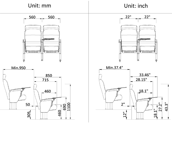 leadcom seating 15608