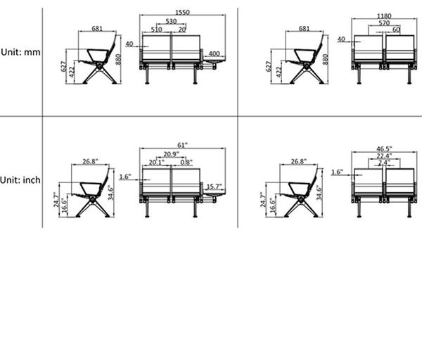 leadcom seating 529mf