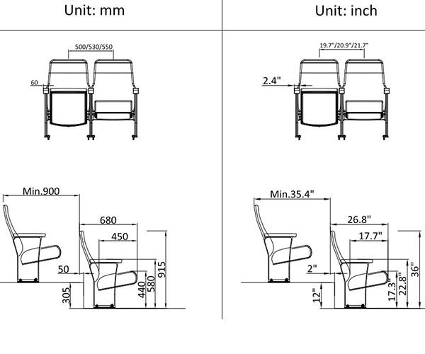 leadcom seating 623a