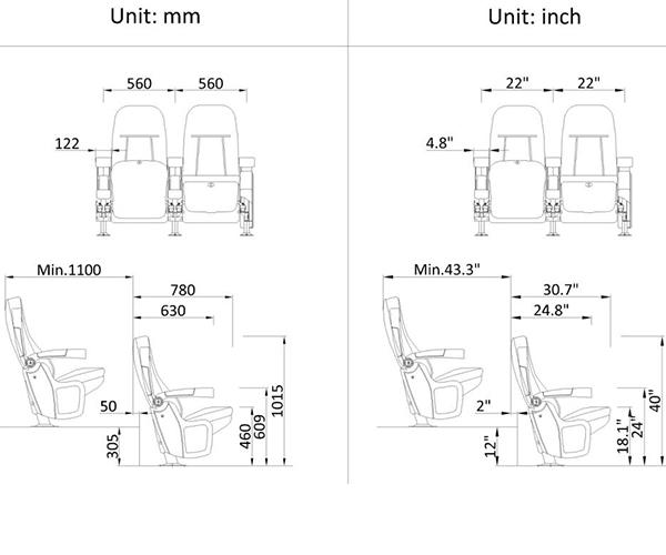 leadcom seating 6609a