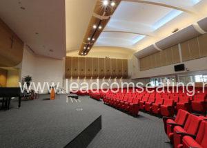 leadcom seating auditorium seating installation Emmanuel Baptist Church