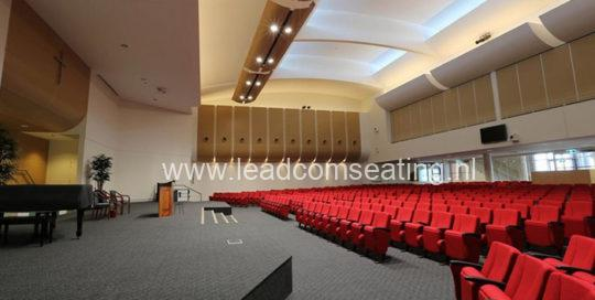 leadcom seating auditorium seating installation Emmanuel Baptist Church