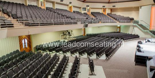 leadcom seating auditorium seating installation Harbourside Church, NZ