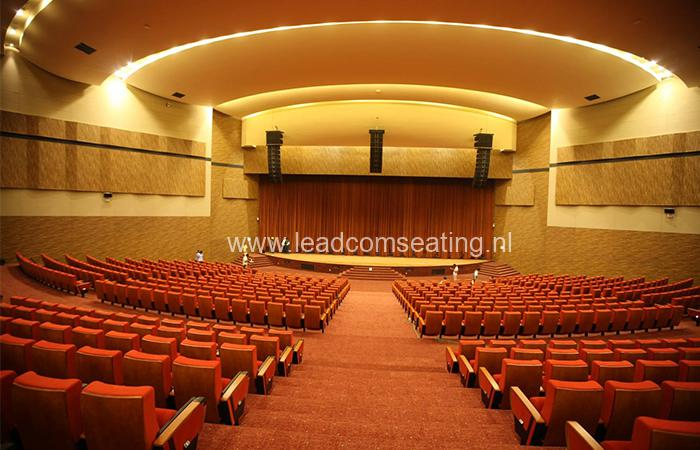 leadcom seating auditorium seating installation Magam Ruhunupura International Convention Centre