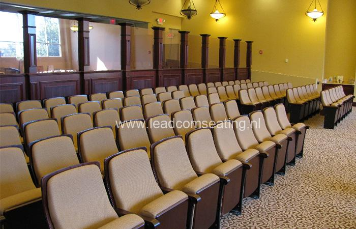 leadcom seating auditorium seating installation NJ Synagogue 1