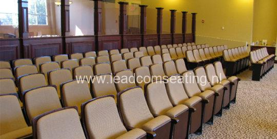 leadcom seating auditorium seating installation NJ Synagogue 1