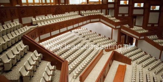leadcom seating auditorium seating installation Prime Minister's Office Building