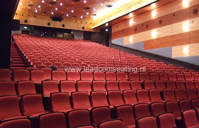 leadcom seating auditorium seating installation Reehors Theatre 1