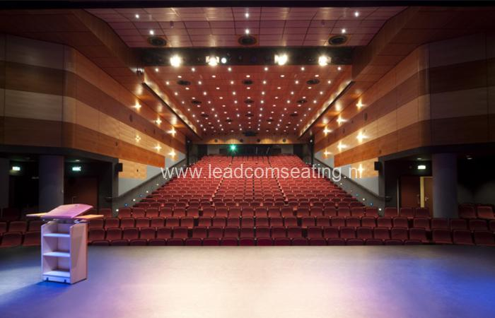 leadcom seating auditorium seating installation Reehors Theatre 2