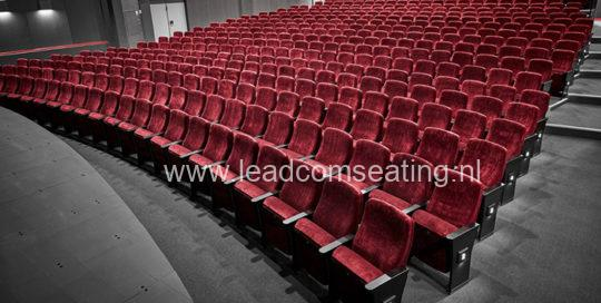 leadcom seating auditorium seating installation Slagelse Theater